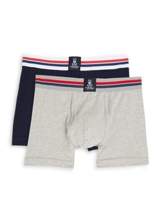 Psycho Bunny Stretch-Cotton Trunks - Two Pack