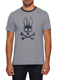 Psycho Bunny Stripe Logo Graphic T-Shirt