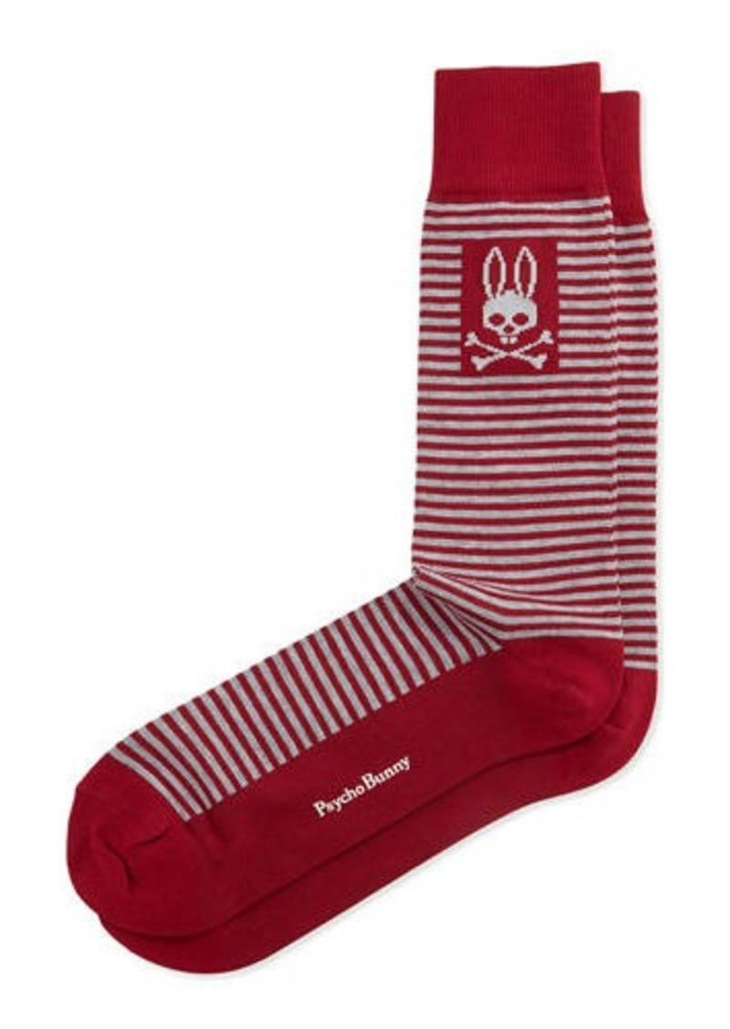 Neiman Marcus Thin-Striped Socks