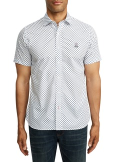 Psycho Bunny Treveris Short Sleeve Pima Cotton Button-Up Shirt