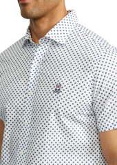Psycho Bunny Treveris Short Sleeve Pima Cotton Button-Up Shirt