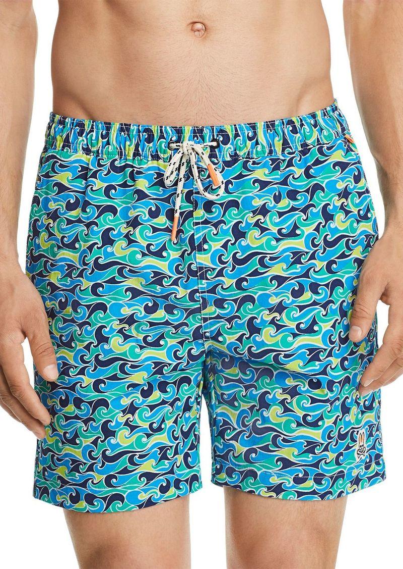 e8e82b70ea Psycho Bunny Psycho Bunny Wave Print Swim Trunks | Swimwear