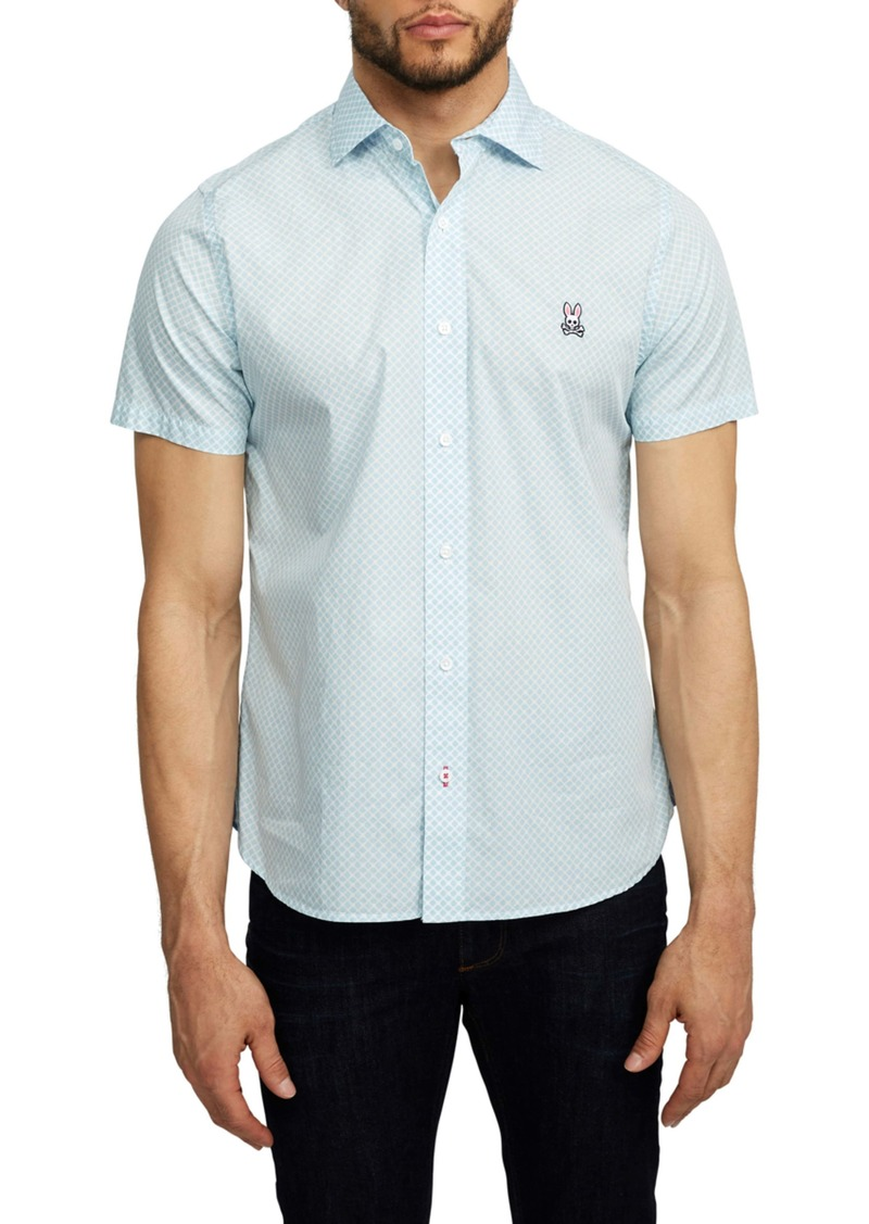 Psycho Bunny Welford Short Sleeve Pima Cotton Button-Up Shirt