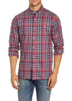 Psycho Bunny Wellington Plaid Button-Down Flannel Shirt