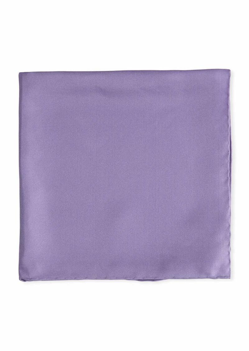 Psycho Bunny Solid Silk Twill Pocket Square