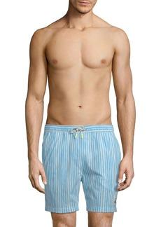 Psycho Bunny Striped Swim Shorts