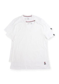 Psycho Bunny Tagless Two-Pair V-Neck T-Shirt