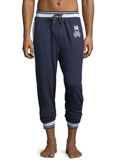 Psycho Bunny Terry Stripe Jogger Lounge Pants