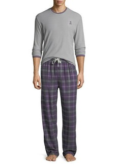 Psycho Bunny Thermal Tee & Flannel Pants Lounge Gift Set