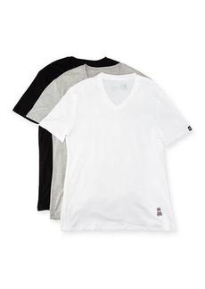 Psycho Bunny Three-Pack Classic Cotton V-Neck T-Shirt