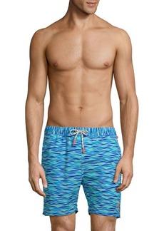 Psycho Bunny Wave-Print Swim Shorts