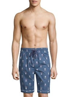 Psycho Bunny Woven Jammie Cotton Lounge Shorts