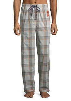 Psycho Bunny Woven Plaid Lounge Pants with Logo