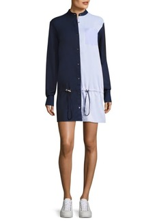 Public School Masika Colorblock Cotton Shirt Dress