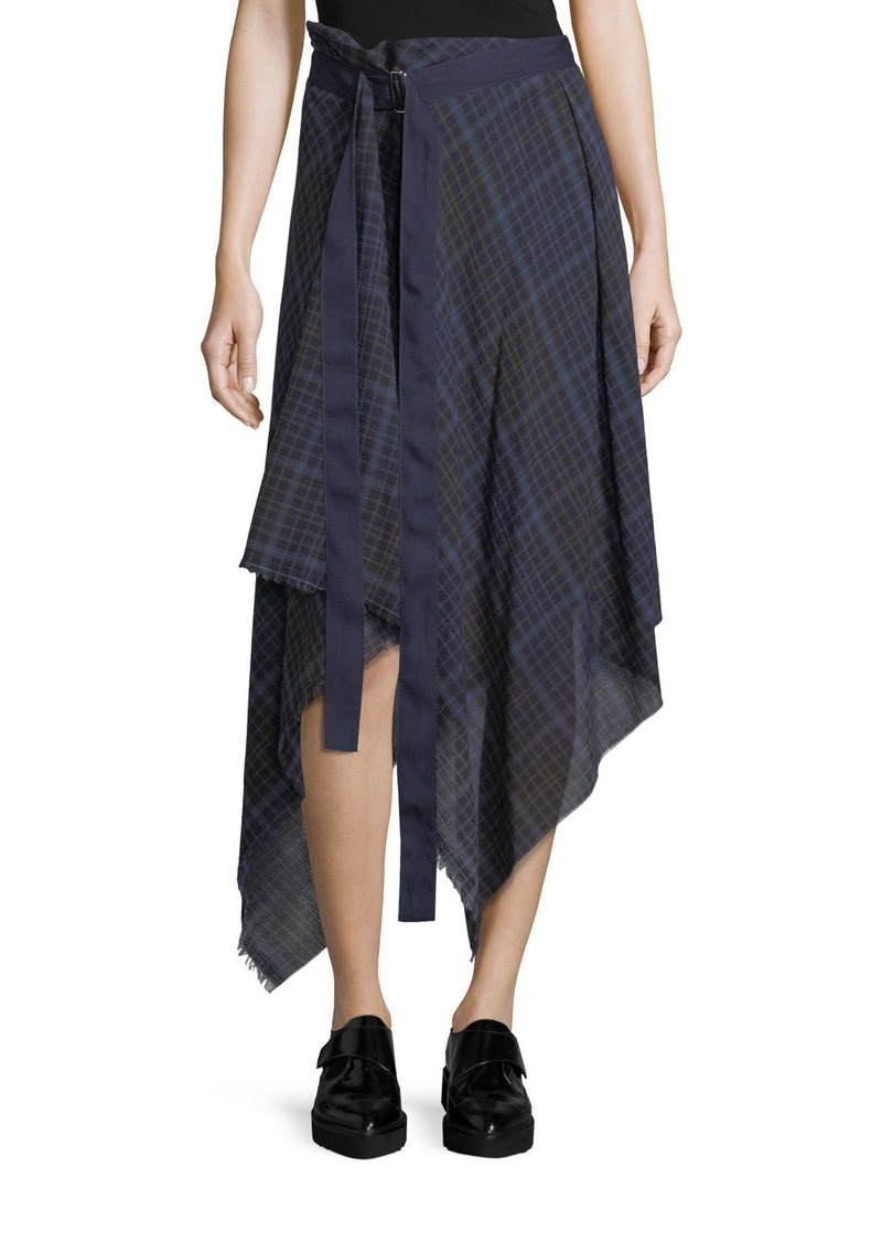 Public School Danen Plaid Asymmetric Skirt