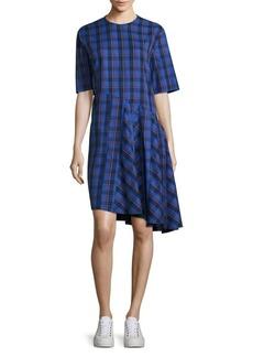 Public School Rima Abia Plaid Cotton Dress