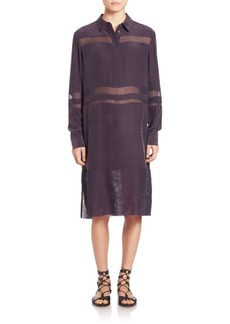 Public School Straight-Fit Silk Jade Dress