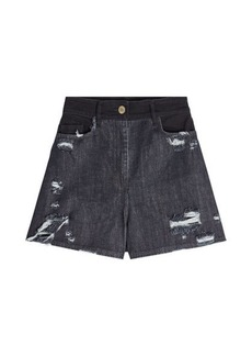 Public School Thana Distressed Denim Shorts