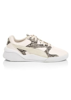 Puma Aeon Play Deconstructed Snakeskin Print Sneakers