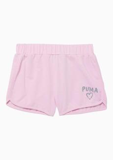 Puma Alpha Girls' French Terry Shorts JR