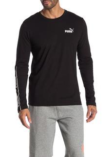Puma Amplified Logo Long Sleeve T-Shirt