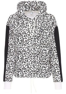 Puma Animalier Print Crop Cotton Hoodie