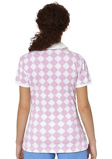 Puma Argyle Glitch Golf Polo Shirt