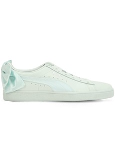 Puma Basket Bow Leather Sneakers