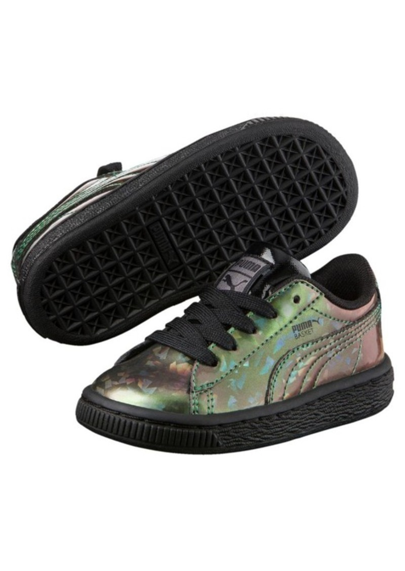 lowest price a035f 36922 Puma Basket Classic Holographic Preschool Sneakers