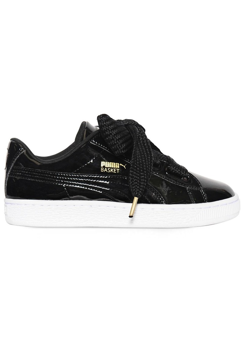 newest 63897 4a8e8 Basket Heart Patent Leather Sneakers