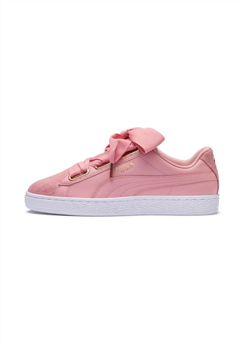 Puma Basket Heart Woven Rose Women's Sneakers