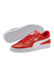 Puma Basket Holiday Glitz Lace Up Sneaker (Big Kid)