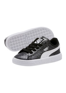 Puma Basket Holiday Glitz Leather Lace Up Sneaker (Baby & Toddler)