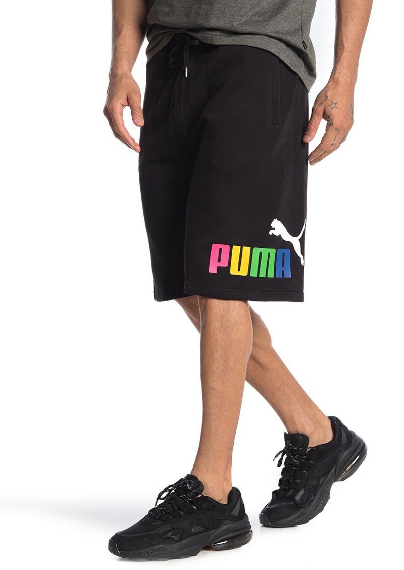 Puma Big Fleece Logo Shorts