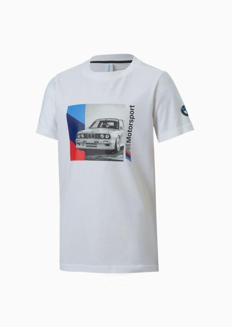 Puma BMW M Motorsport Boys' Graphic Tee JR