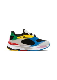 Puma Boy's Fast Colorblock Mesh Sneakers