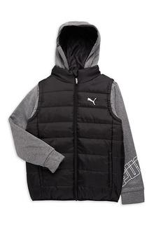 Puma Boy's Hoody & Vest One-Piece Combo