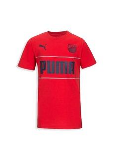 Puma Boy's Logo Mesh T-Shirt