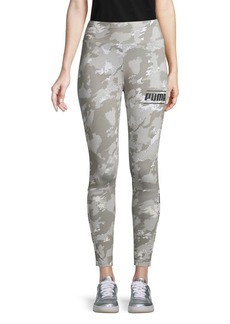Puma Camouflage-Print Cropped Leggings