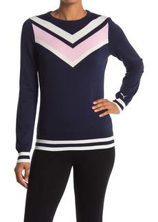 Puma Chevron Striped Pullover Sweater