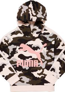 Puma Classics Camo Archive Logo Little Kids' Fleece Hoodie