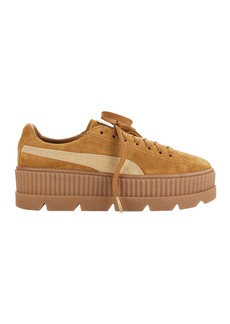 Puma Cleated Brown Suede Creeper Sneakers
