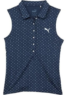 Puma Cloudspun Sleeveless Polka Polo (Big Kids)