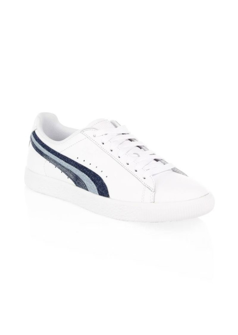 43014daa4c88 Puma Clyde Denim Leather Sneakers