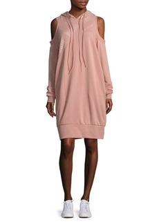 Puma Cold-Shoulder Sweatshirt Dress