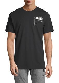 Puma Colorblock Short-Sleeve Cotton Tee