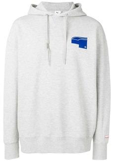 Puma contrast print hoodie