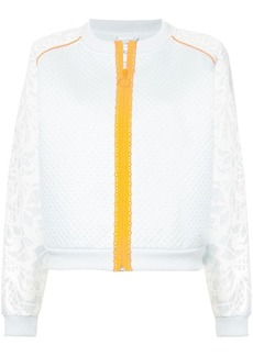 Puma contrast-trim panelled bomber jacket