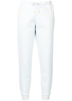 Puma contrast-trim textured track pants