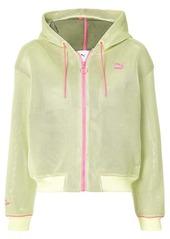 Puma contrast zipped hoodie